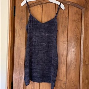 ALL SAINTS Silk Snakeskin Dress